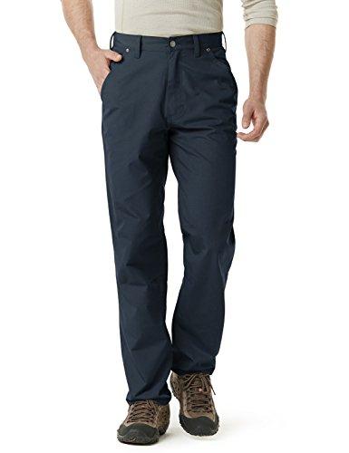 CQR Herren Ripstop-Arbeitshose, wasserabweisend, Taktische, Straight-Leg Hose, für Außenarbeiter, Cargohose, Twp301 1pack - Navy, 34W / 30L