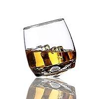 3°Amy ガラス製品ビールマグ タンブラーを旋回ワイングラスウイスキーロックグラス用バーオフィス家庭用ビールジャック・ウイスキークリスタルカップ #a (Color : 6 Pieces, Size : 270ml)