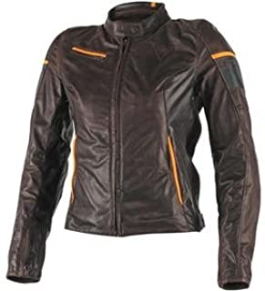Dainese Womens Michelle Leather Jacket (40, Brown/Black/Anthracite)