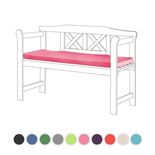 Gardenista Garden Bench Outdoor Pad | Bench Patio Furniture 2 Seater Cushion | Water Resistant Material | Comfortable Durable and Lightweight (Pink)