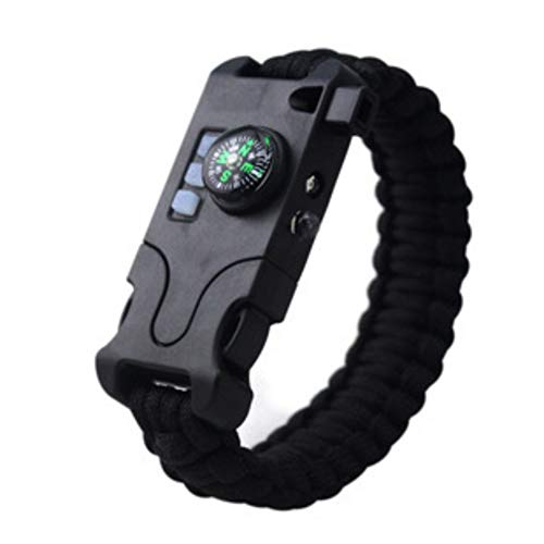 Shiming Unisex-Armband, geflochtenes Multifunktions-Überlebensarmband, Outdoor-Camping-Rettungsseil-Armbänder