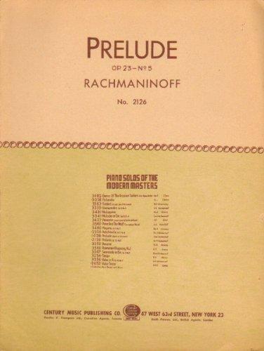 Second Prelude: Op. 23 No. 5 for Piano (Sheet Music) (Rachmaninoff Op 23 No 5 Sheet Music)