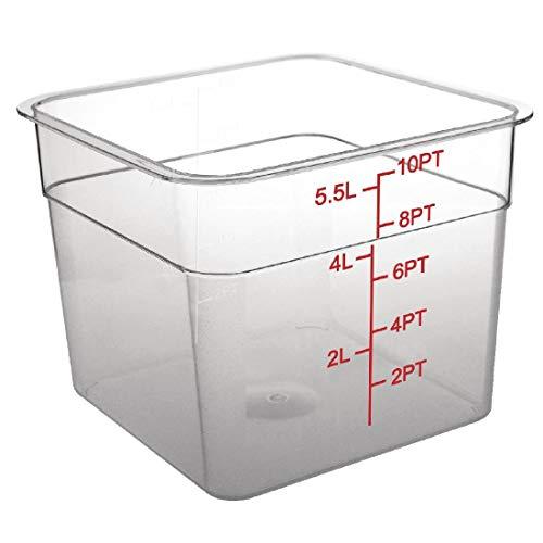 Vogue CF022policarbonato recipiente de almacenamiento cuadrado