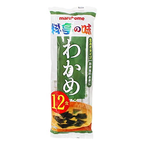 Marukome Sachets Coller Miso Soup instantanée avec Wakame 12x18g