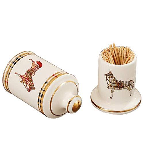 Zahnstocher Box, Keramik Zahnstocher Halter, Europäische Zahnstocher Box, Zahnstocher Dose, Home Decoration Ornamente, C, Keramik