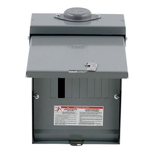 Square D by Schneider Electric QO612L100RBCP QO 100 Amp 6-Space 12-Circuit Outdoor Main Lugs Load Center with Cover