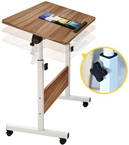 LY88 overbedtafel met wielen, in hoogte verstelbaar, gemakkelijk te kantelen, op te bergen, 80 cm breed, werkbank, overbed, bureau, laptop, tafel, bank, tafel, staand voor ziekenhuis
