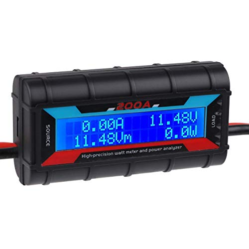 200A High Precision Power Analyzer Wattmeter Batterieverbrauch Leistungsüberwachung mit LCD-Hintergrundbeleuchtung für RC, Batterie, Solar, Windenergie