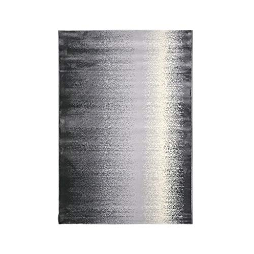 Tapis JXLBB Polypropylène Mélangé Moderne 0.8x1.2m Style Industriel Nouveau Chinois Noir Gris Dégradé Simple Nordic Chambre Table Basse Salon 3D