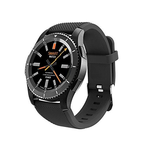 JDBT Smartwatch met touchscreen, compatibel met sim-kaart, stappenteller, fitnesstracker, bloeddruk- en hartslagmeter, voor vrouwen en mannen