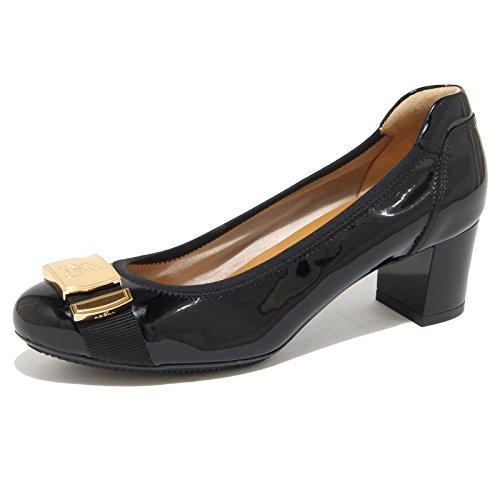 Hogan 8247N Ballerina Donna Vernice Blu con Fibbia Oro Shoes Woman [36.5]