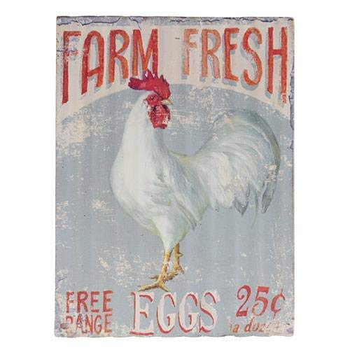 Rustic Farm Fresh Free Range Eggs Retro Metal Sign Cooper Barn Shop Kitchen Cottage Country Outdoor Home Style Farmer Silly Decoration 8X12 inch