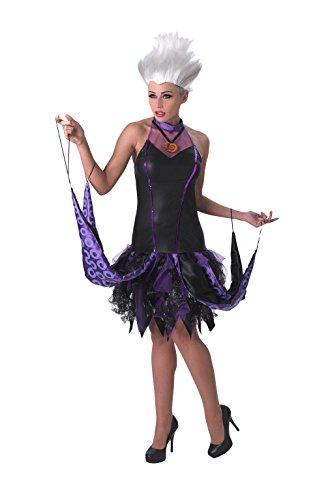 Disney La Sirenita ~ Sassy Ursula - adulto con licencia de vestuario Señora: S (Reino Unido: 8-10) * peluca no está incluido
