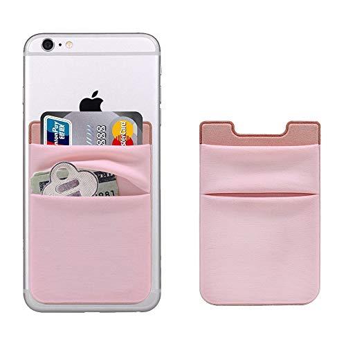 CASZONE Kreditkartenhalter für die Rückseite des Telefons, 2 Stück, dehnbares Lycra, 3 m selbstklebende Mehrfach-Kartenfächer, Taschen meisten Smartphones (iPhone/iPad/alle Android), Pack, Muster 01