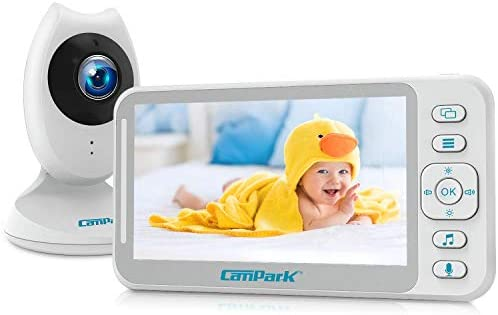 Campark Video Baby Monitor with Camera and Audio 4 3 LCD Split Screen Long Last Battery Temperature product image