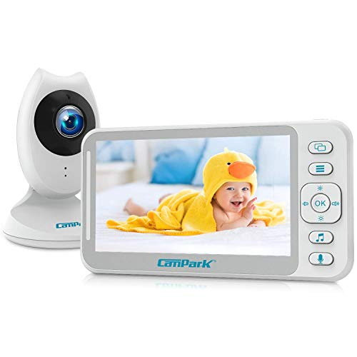 Campark Video Baby Monitor with Camera and Audio 4.3'' LCD Split Screen Long...