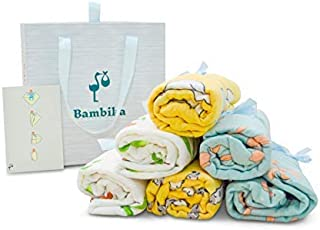 Muslin Swaddle Blankets Unisex Swaddle Wrap 3 Pack Large 47X47 inch by Bambika