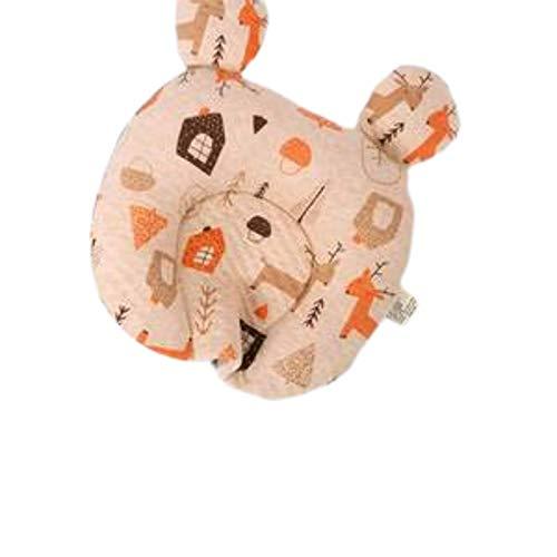 N-B Almohada de látex para recién nacido, antisesgado, corrección de la cabeza, cabeza plana, transpirable, antiplano, cabeza puntiaguda, almohada