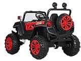 Indalchess Buggy Rodeo 12v 4x4 Coche eléctrico para niños, Rojo, Mando RC, App móvil - ATRODEORED