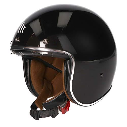 MT Le Mans II SV · Jet-Helm · Motorrad-Helm Roller-Helm Scooter-Helm Bobber Mofa-Helm Chopper Retro Cruiser Vintage Pilot Biker ECE 22.05 (Schwarz, M)