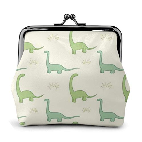 Dinosaur Coin Purse Wallet Bule -Lo Small Leather Change Pouch Gift for Women