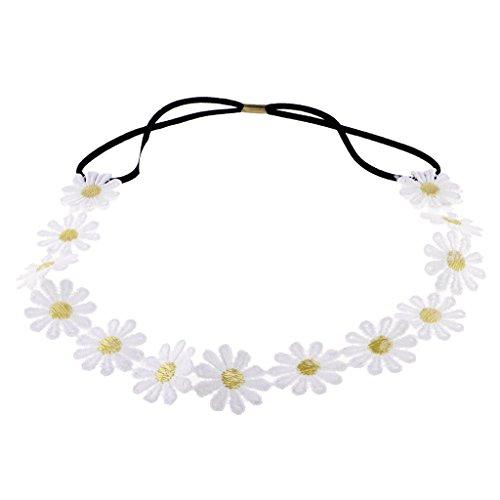 Haarband mit Gänseblümchen, elastisch, für Hochzeiten, Festivals, Boho-Stil, 1 Stück