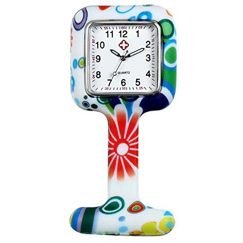LANCARDO Krankenschwester Herren Damen Armbanduhr Analog mit Silikon Armband LCD10392*