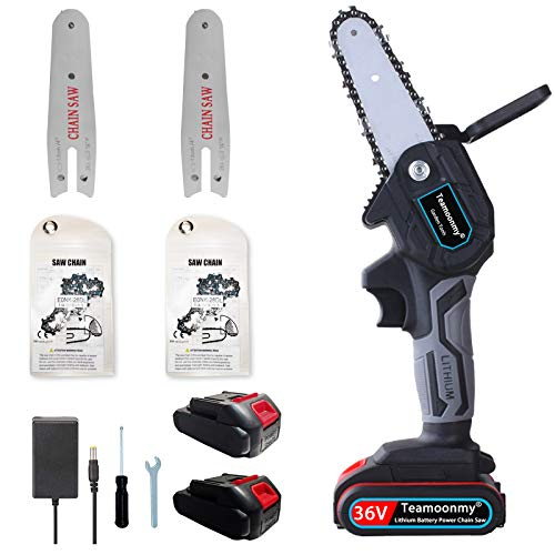 Long battery life Mini Chainsaw-Efficient cutting(6M/S)-4-Inch 36V Cordless...