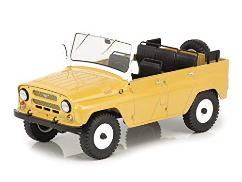 UAZ-469 (31512) (Open) Beige 1972 Year - Cross-Country Car - 1/18 Scale Collectible Model Vehicle - 4/5-door Station Wagon