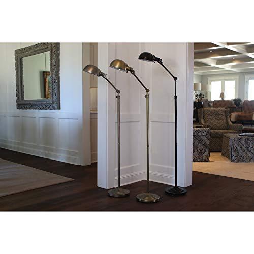 "71"" Adjustable Pharmacy Floor Lamp Brass - Decor Therapy"