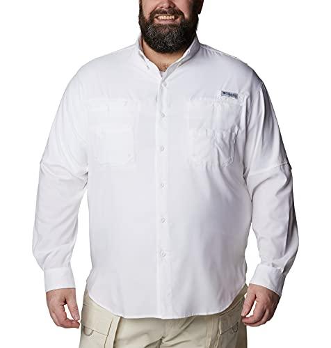 Columbia Men's Plus Tamiami II Long Sleeve Shirt, White - XX-Large