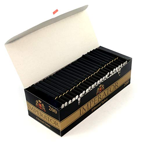 Imperator Black 200 gefilterte Zigarettenhülsen, 1 Box mit 200 Hülsen