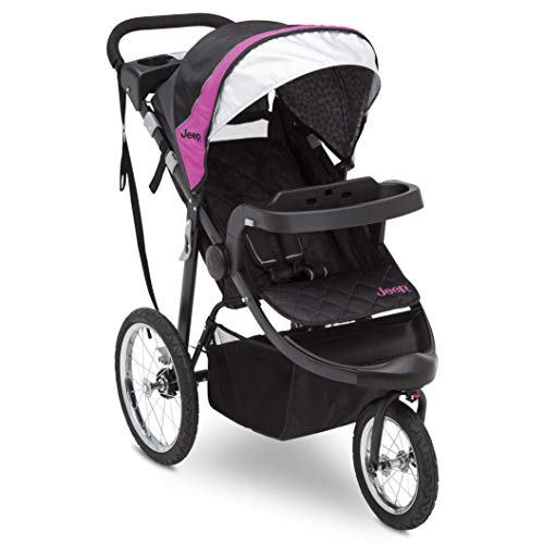 top 10 jogging strollers pink Jeep Deluxe Patriot Open Trail Jogger Delta Children, Berry Truck
