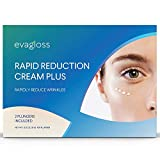 Evagloss Rapid Reduction Eye Cream, Visibly Reduce Under-Eye Bags, wrinkles and fine lines in seconds, for dark circles and fatigued appearance 2Pcs