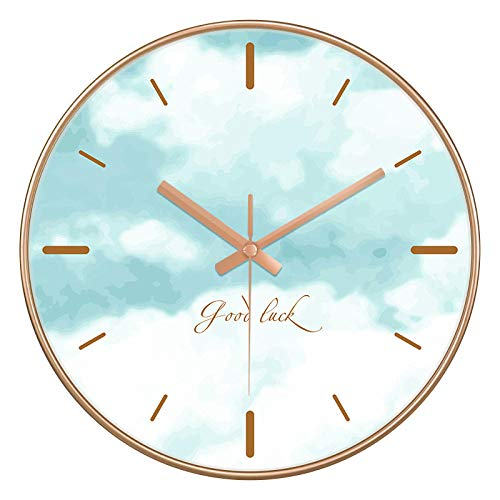 ZZLHHD RelojdeParedModernoRelojdeparedcreativomodernosimple-A045doradogrisblancoRelojdeparedsilencioso