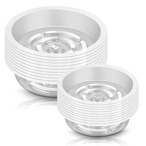 Nexxxi Juego de 30 platos de plástico transparente para plantas, platos de plástico para interior y exterior, 15,2 cm y 20,3 cm