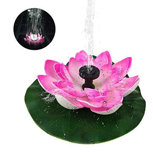 Hainter Fontein op zonne-energie, drijvend, led-fontein, lotusvorm, dompelpomp, voor vijvers in het zwembad, bond aquarium, voor tuin, patio, vogels