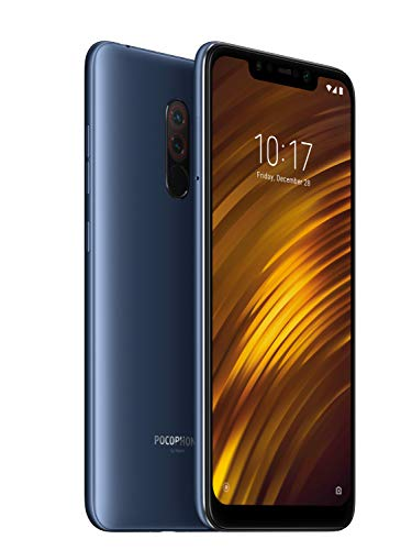 POCOPHONE F1 by Xiaomi - 6GB RAM and 64GB Storage (Dual Sim) - UK Sim-Free Smartphone - 6.18-Inch Android 8.1 Oreo - Steel Blue (Official UK Launch) - Exclusive to Amazon