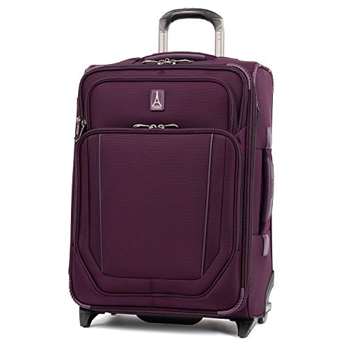 Travelpro Crew Versapack-Softside Expandable Upright Luggage, perfect Plum, Carry-On 21-Inch