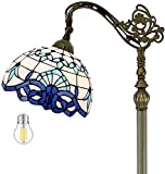 Tiffany Floor Lamp 64' Tall Baroque Industrial Pole Vintage Boho Stained Glass Standing...