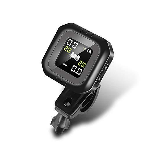 HE-XSHDTT Monitor de presión de neumáticos de Motocicleta, Carga USB Impermeable, Monitor inalámbrico de detección de neumáticos Universal de Motocicleta Externa a Prueba de Golpes