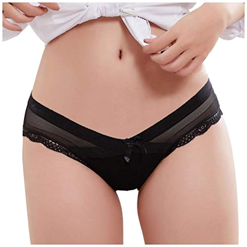 Sonnena Tanga para Mujer Encaje Sexy Braguita Impresión Braguita de Lisas Ropa Interior Cómodo Bragas Pantalones de Cintura Baja