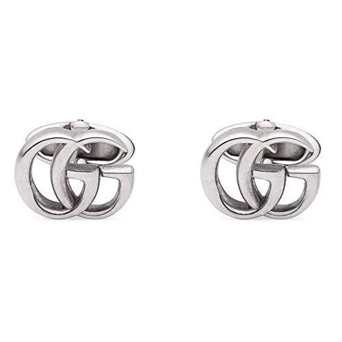 Gucci Manschettenknöpfe aus Silber mit Doppel G YBE57729900100U