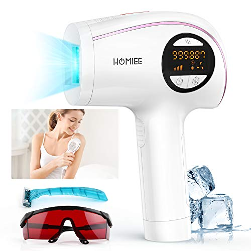 Permanent Hair Removal for Women and Men, Painless Hair Removal Device, 5 Energy Levels, Manual/Auto Modes, Hair Remover for Face, Arms, Legs, Bikini and Whole Body