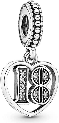 MariaFonte Charm 18 Anni Argento Sterling 925 Compatibile Braccialetti collane