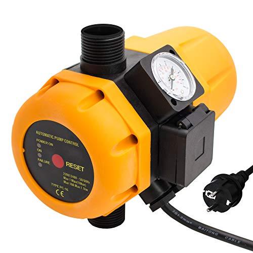 Pumpensteuerung AM-PC16 Pumpen Druckschalter Druckwächter Druckregler Steuerung verkabelt Automatischer Neustart Trockenlaufschutz