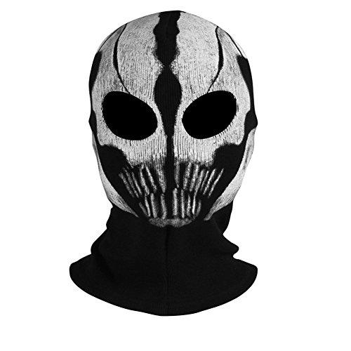 INNTURT Fabric Ghost Mask Balaclava Skull Hood White - http://coolthings.us