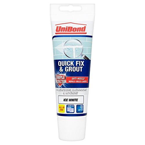 UniBond Fogmortel Fix and Grout, antimögel, 3-faldigt skydd, 1616659, vit