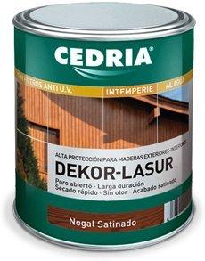 Lasur protector madera exterior al agua Cedria Dekor Lasur 4 litros TEKA
