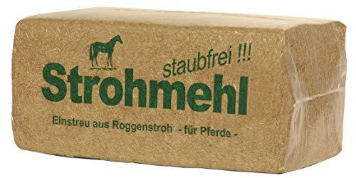 Roggenstroh ca. 22KG - staubfrei - Strohballen Einstreu ideal für Pferde Geflügel Meerschweinchen Hasen Kaninchen Schafe